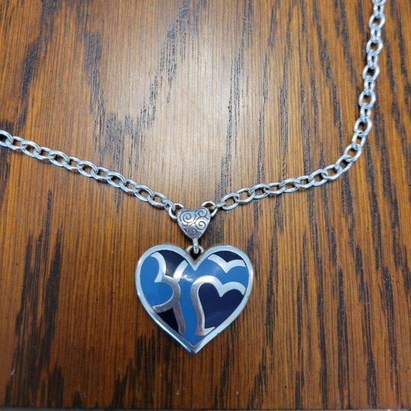 Beautiful blue Brighton Heart (2 sided)
